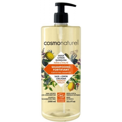 Cosmo Naturel Shampooing fortifiant - 1 Litre shampoing bio les copines bio