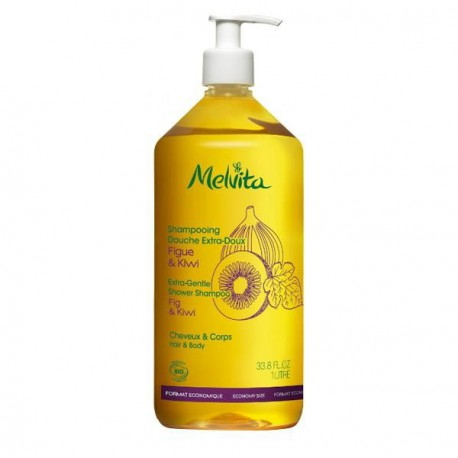 Melvita Shampoing Douche Extra Doux 1L les copines bio