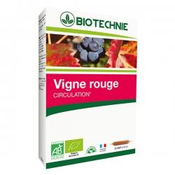 Biotechnie Vigne rouge bio 20 ampoules de 10ml