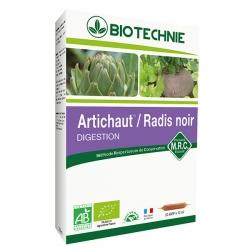Biotechnie Artichaut Radis noir 20 ampoules de 10ml les copines bio