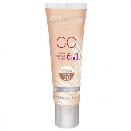 Santé CC Crème 6 en 1 n°30 Bronze 30ml maquillage bio
