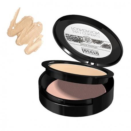 Lavera Fond de teint compact 2 en 1 Ivoire Ivory 10 gr Maquillage bio Les copines bio