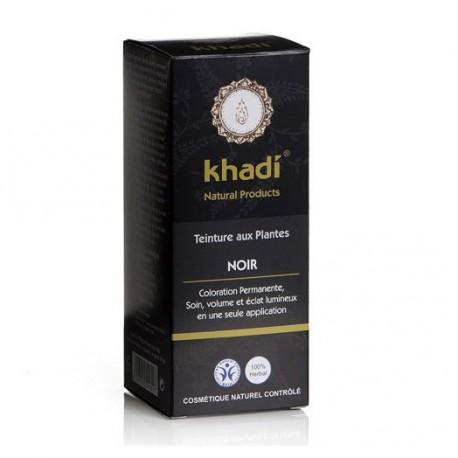 Khadi Teinture aux Plantes Noir 100gr coloration capillaire