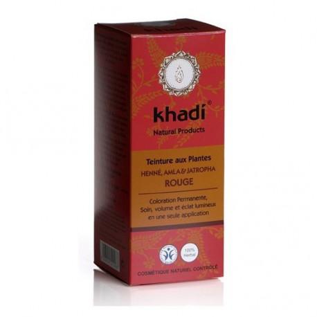Khadi Teinture aux Plantes Henné, Alma, Jatropha Rouge 100gr coloration capillaire les copines bio