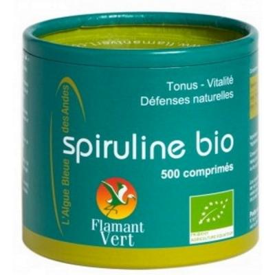 Flamant vert spiruline Bio 500 comprimes de 500 mg - spiruline bio les copines bio