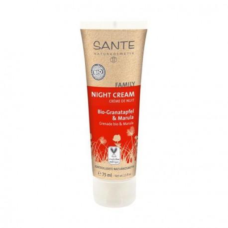 Santé Crème de Nuit à la Grenade 75 ml soin de nuit bio les copines bio
