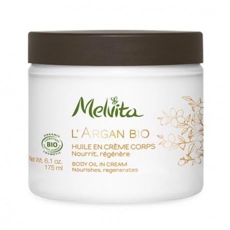 Melvita huile en crème corps à l'argan 175 ml crème corps bio les copines bio