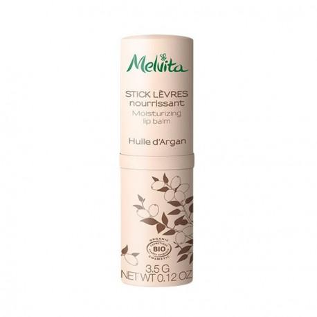 Melvita stick lèvres nourrissant à l'huile d'argan 3.5 gr soin bio les copines bio
