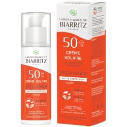 Alga maris Crème solaire Visage SPF50 50ml creme solaire bio les copines