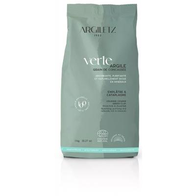 Argiletz Argile Verte Concassée 1kg argilotherapie les copines bio