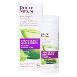 Crème de nuit Aloe Vera-50 ml - A l'aloe vera bio et cire d'olive