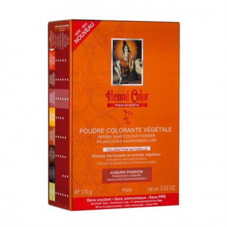 Henné Color Poudre colorante végétale Auburn Passion 100 g coloration capillaire