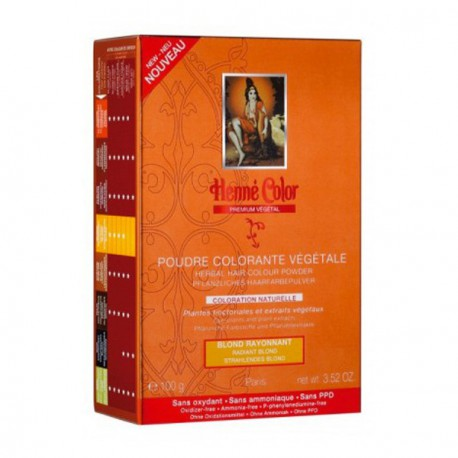 henné Color Poudre colorante végétale Blond Rayonnant 100 g coloration capillaire