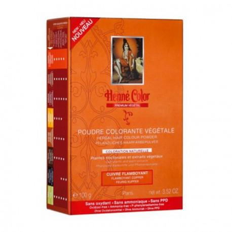 henné Color Poudre colorante végétale Cuivré Flamboyant 100g coloration capillaire