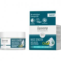 Lavera Crème de Nuit Q10 Basis Sensitiv 50 ml soin anti-âge les copines bio