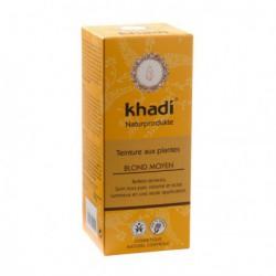 Khadi Teinture aux Plantes Blond moyen 100gr coloration capillaire