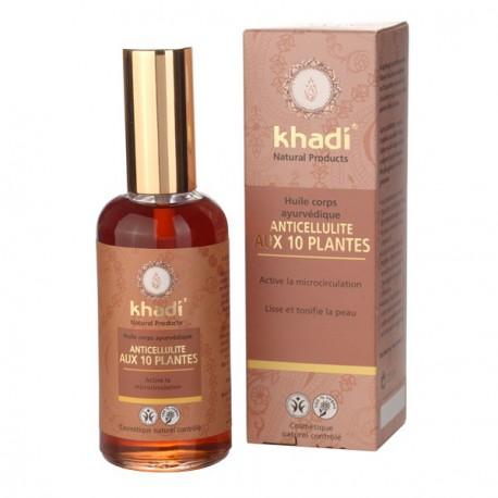 Khadi Huile de soin Anti-Cellulite aux 10 plantes 100ml lescopines bio