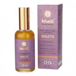 Khadi Huile de soin Violette 100 ml huile hydratante bio les copines