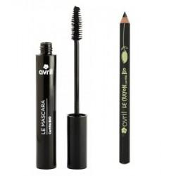 Avril Beauté - Lot mascara + crayon contour des yeux Noir
