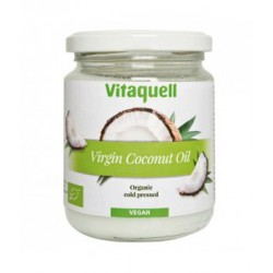 Huile de coco vierge culinaire et soin noix de coco 200gr Vitaquell