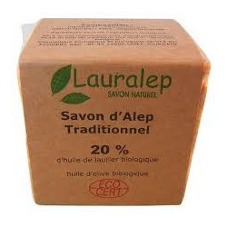 Lauralep Savon d'Alep traditionnel 20% d'huile de laurier 200gr