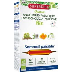 Super Diet Quatuor Angélique Passiflore Escholtzia Aubépine 20 ampoules 15ml