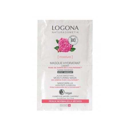 Logona Masque hydratant lissant Rose de Damas bio Kalpariane 2x7,5ml