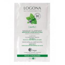 Logona Masque nettoyant clarifiant Menthe bio Acide salicylique 2x7,5ml