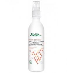 Melvita Lait demaquillant confort 200ml cosmétique bio lescopinesbio