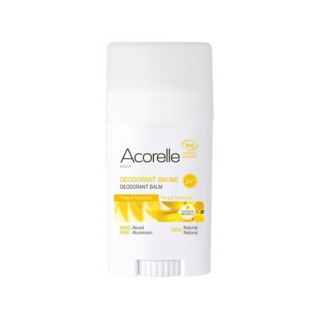Acorelle Deodorant Baume Ylang Ylang Palmarosa 40gr deo bio lescopines