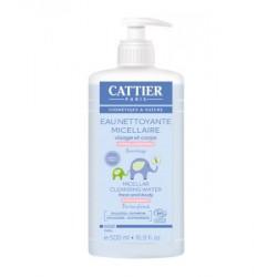 Cattier Eau nettoyante micellaire bebe Amande douce et Calendula 500ml eau micellaire bio les copines