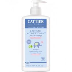 Cattier Liniment Lait nettoyant pour le change 500ml hygiène bébé les copines bio