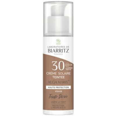 Alga Maris Creme teintee SPF 30 50ml crème solaire bio les copines
