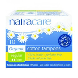 Natracare 10 Tampons normaux sans applicateur les copines bio