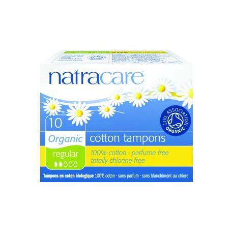 Natracare 10 Tampons normaux sans applicateur les copines bio