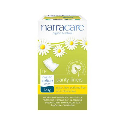 Natracare 16 proteges slip naturels incurves longs hygiène féminine les copines bio