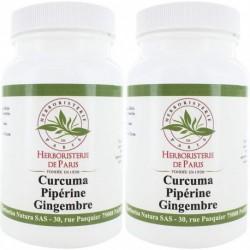 Curcuma Pipérine Gingembre 2*90 gélules végétales - Curcumine - laboratoires Herboristerie de Paris