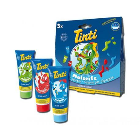 Tinti Coffret 3 savons pour peindre Bleu, Vert, Rouge dès 36 mois 3x70ml