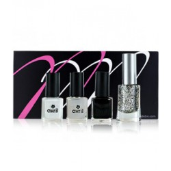 Coffret MondeBio Box vernis Black and White Avril - Couleur Caramel
