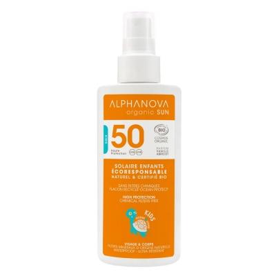 Alphanova Sun Spray solaire enfants très haute protection SPF50 Kids 125 gr les copines bio