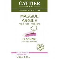 Cattier Paris Masque Argile rose Aloe vera sachet unidose 12.5 ml
