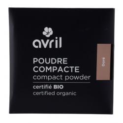 Avril Cosmétique Poudre compacte Dorée 7 gr - maquillage bio les copines