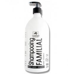 Naturado Shampoing familial Aloe vera et Jojoba 1 litre - shampooing bio familial