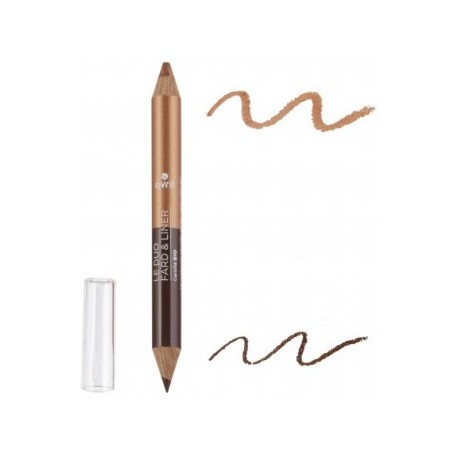 Avril cosmétique Duo liner Terre brûlée/Cuivre irisé 2gr maquillage bio