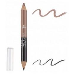 Avril cosmétique Duo liner Noir charbon/Taupe nacré 2gr maquillage bio