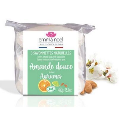 Pack 3 savons Amande Douce bio - 3 x 150 g