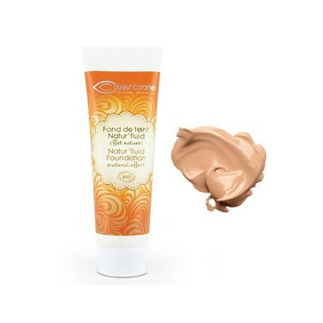 Couleur caramel Fond de teint Natur'fluid naturel 04 Beige doré 30 ml maquillage bio