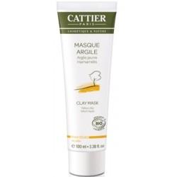 Cattier Masque Argile Jaune peaux sèches - 100 ml