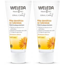 Weleda Duo Pâte dentifrice au Calendula goût anis 2x75ml