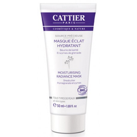Cattier Masque Eclat Hydratant 50ml, grenade active, hydratation,